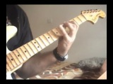 Speed guitar solo shred in Eb pentatonic heavy metal licks